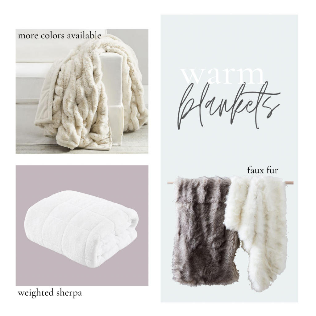 faux fur blankets, weighted blankets