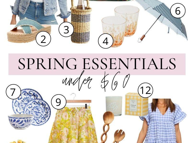 Spring Essentials Under $60