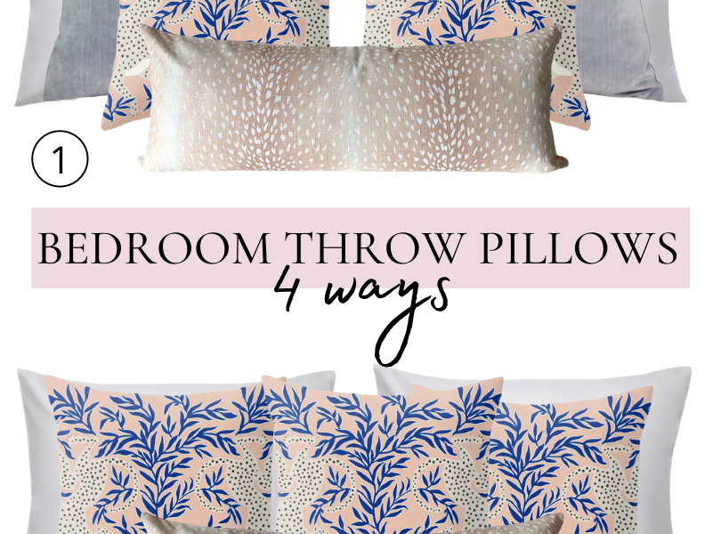 Styling a Bed 4 Ways