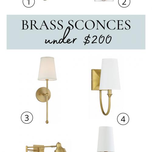 12 Brass Sconces Under $200