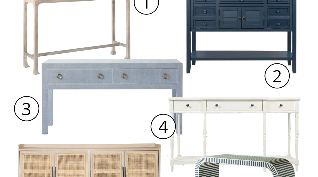 12 Console Tables